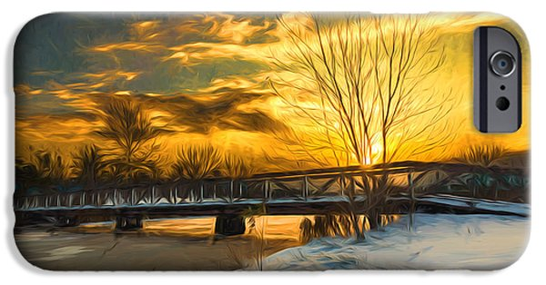 Wintertime iPhone Cases - Winter sunrise - Artistic iPhone Case by Chris Bordeleau
