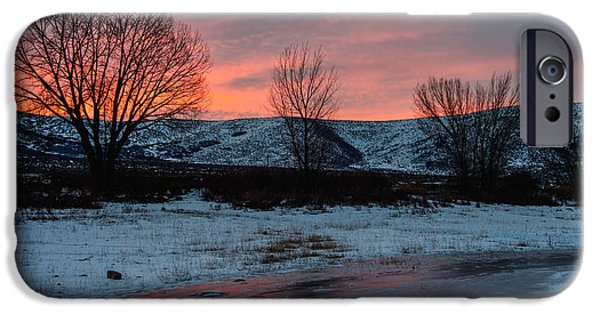 State Park iPhone Cases - Winter Sunrise iPhone Case by Chad Dutson