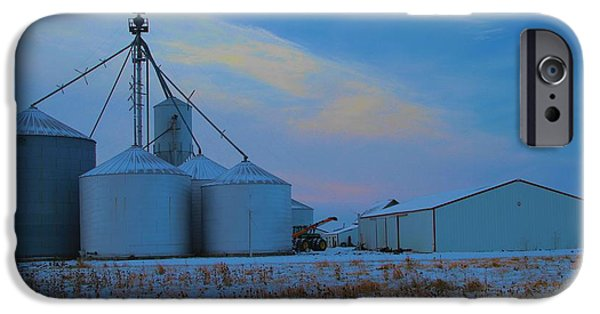 Machinery iPhone Cases - Winter Sunrise Country Living iPhone Case by Dan Sproul