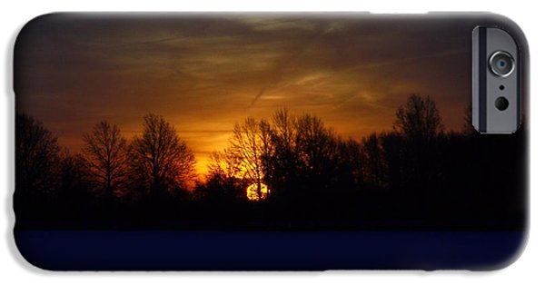 Comfortable Art iPhone Cases - Winter Sunrise iPhone Case by Dan Sproul