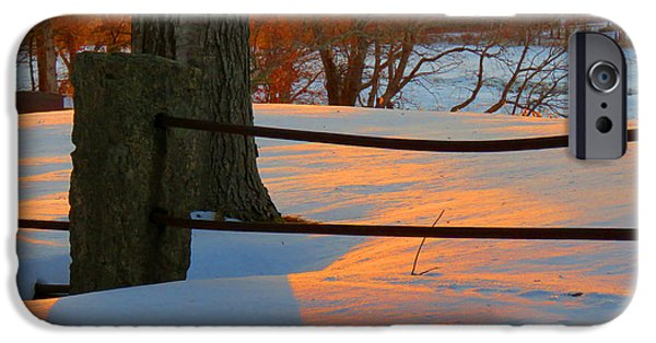 East Dennis Ma iPhone Cases - Winter Sunrise Glow iPhone Case by Dianne Cowen