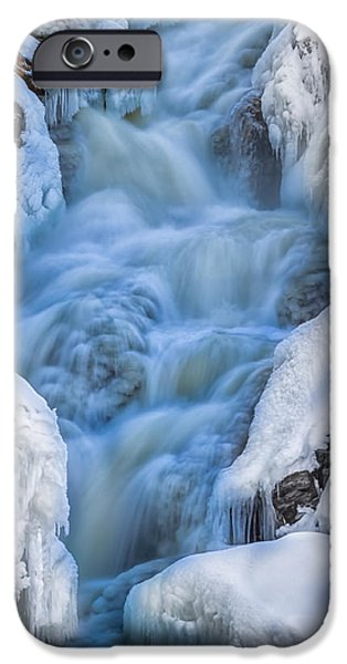 Winter Sunrise Great Falls iPhone Case by Bob Orsillo