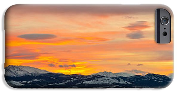 Wintertime iPhone Cases - Winter Sunrise over Lake Laberge iPhone Case by Stephan Pietzko