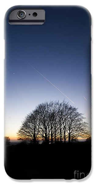 Winter Sunset iPhone Case by Anne Gilbert