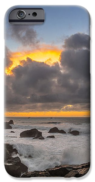 Winter Sunset at Patrick's Point iPhone Case by Greg Nyquist