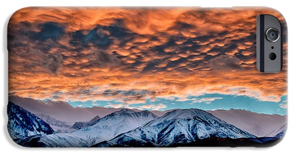 Sunset iPhone Cases - Winter Sunset iPhone Case by Cat Connor