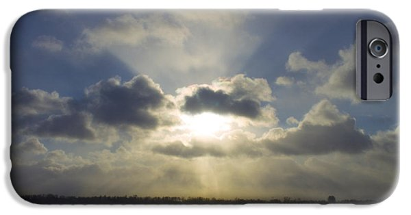 Winter Storm iPhone Cases - Winter Sunset iPhone Case by Francis Lavigne-Theriault