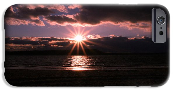 Winter Storm iPhone Cases - Winter Sunset iPhone Case by Karen Silvestri
