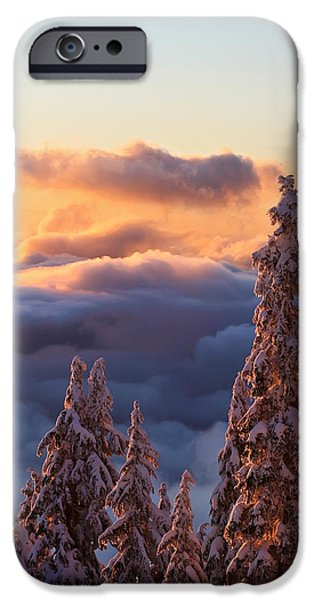 Winter sunset iPhone Case by Pierre Leclerc Photography