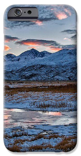 Winter Sunset Reflection iPhone Case by Cat Connor
