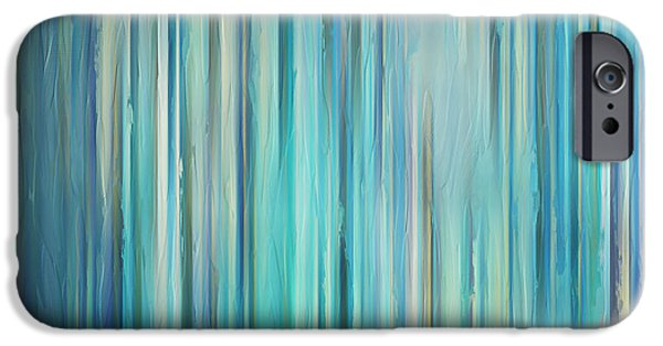 Abstract Seascape iPhone Cases - Winter Tale iPhone Case by Lourry Legarde