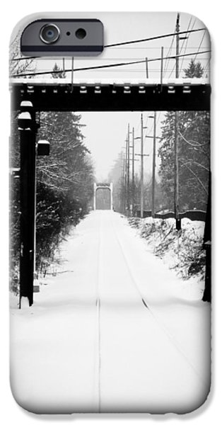 Snowy Day Photographs iPhone Cases - Winter Tracks iPhone Case by Aaron Berg