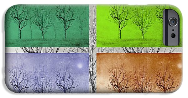 Business Digital Art iPhone Cases - Winter Trees  iPhone Case by David Dehner