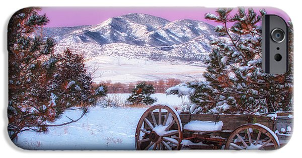 Winter Weather iPhone Cases - Winter Wagon iPhone Case by Darren  White