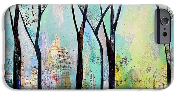 Tree iPhone Cases - Winter Wanderings II iPhone Case by Shadia Zayed