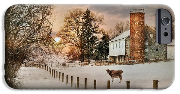 Wintry Digital iPhone Cases - Winter Warmth iPhone Case by Lori Deiter