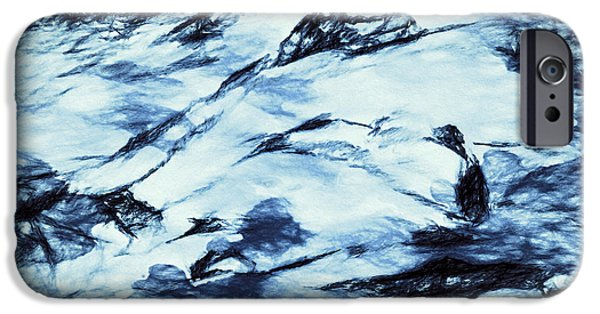 Abstract Digital Art Drawings iPhone Cases - Winter Wasteland iPhone Case by Jo-Anne Gazo-McKim