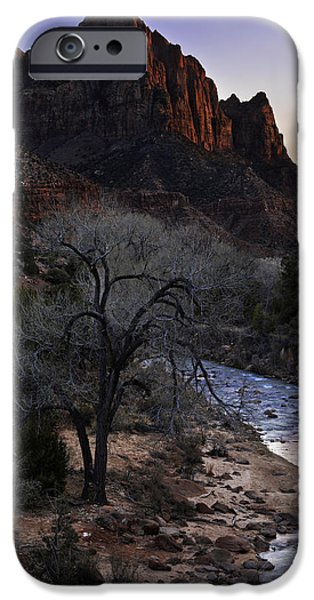 Southern Utah iPhone Cases - Winter Watchman iPhone Case by Chad Dutson