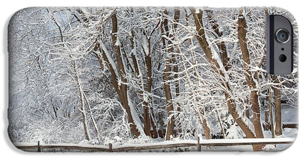Fresh Snow iPhone Cases - Winter - Westfield NJ - Snow Day iPhone Case by Mike Savad