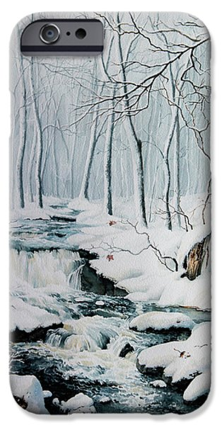 Creek iPhone Cases - Winter Whispers iPhone Case by Hanne Lore Koehler