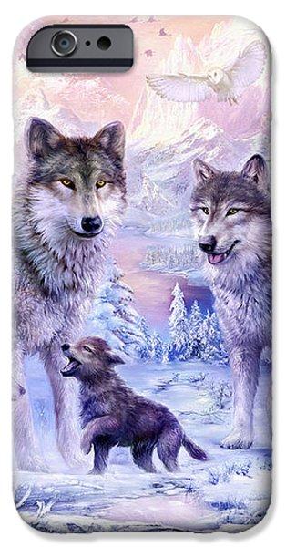 Winter Wolf Family  iPhone Case by Jan Patrik Krasny