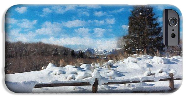 Snowy Day iPhone Cases - Winter Wonderland - Aspen iPhone Case by Kim Hojnacki