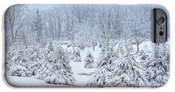 Trees In Snow iPhone Cases - Winter Wonderland iPhone Case by Benanne Stiens
