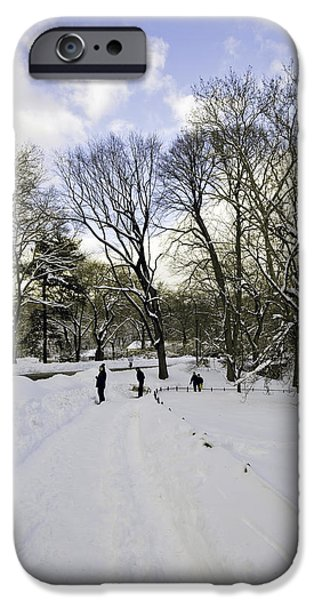 Snowy Day Photographs iPhone Cases - Winter Wonderland In Central Park - New York iPhone Case by Madeline Ellis
