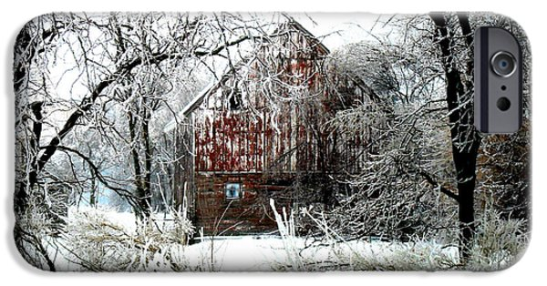Buildings iPhone Cases - Winter Wonderland iPhone Case by Julie Hamilton