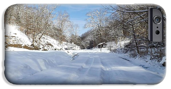 Snowy Brook iPhone Cases - Winter Wonderland iPhone Case by Lena Auxier