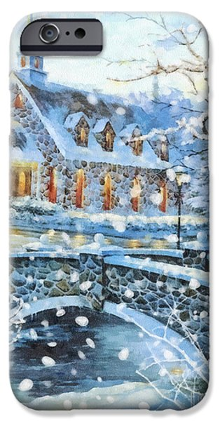 House iPhone Cases - Winter Wonderland iPhone Case by Mo T