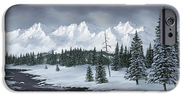 Snowscape Paintings iPhone Cases - Winter Wonderland iPhone Case by Rick Bainbridge
