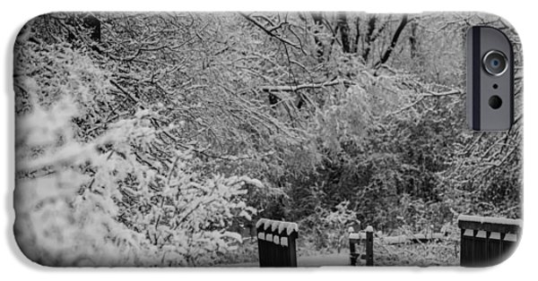 Storm Photographs iPhone Cases - Winter Wonderland iPhone Case by Sebastian Musial