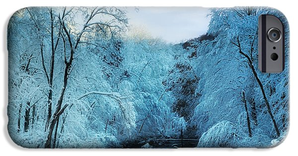 New England Snow Scene iPhone Cases - Winter Wonderland iPhone Case by Thomas Schoeller