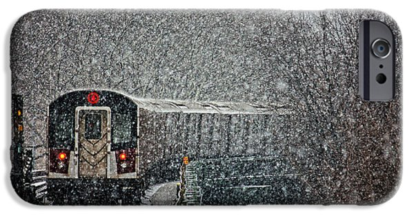 Train Town iPhone Cases - Winter Wonderland vs Winter Woes iPhone Case by Nishanth Gopinathan