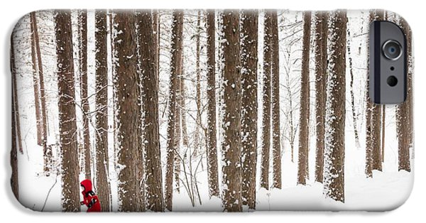 Snowy iPhone Cases - Winter Frolic iPhone Case by Mary Amerman