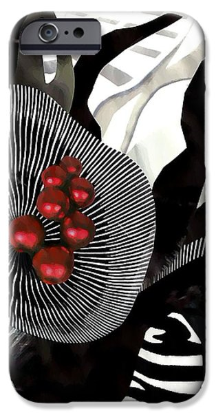 Sarah Loft iPhone Cases - Winterberries iPhone Case by Sarah Loft