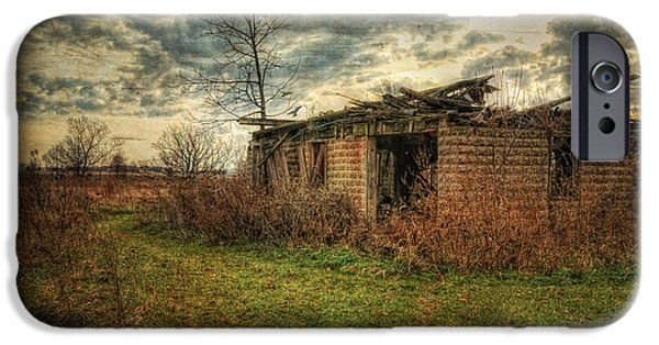Old Barns iPhone Cases - Winters Approach iPhone Case by Pamela Baker