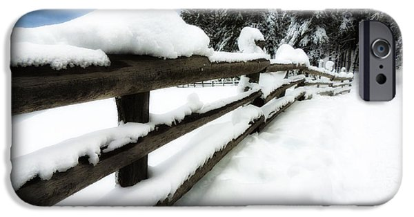 Drifting Snow Photographs iPhone Cases - Winters Blanket iPhone Case by Mountain Dreams