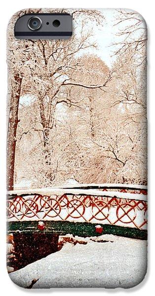 Winter's Bridge iPhone Case by Marty Koch
