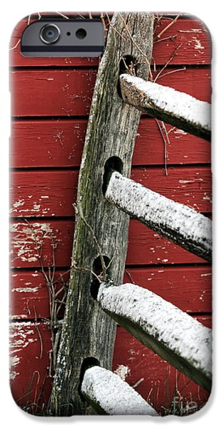 Old Barn Poster Photographs iPhone Cases - Winters Color iPhone Case by John Rizzuto