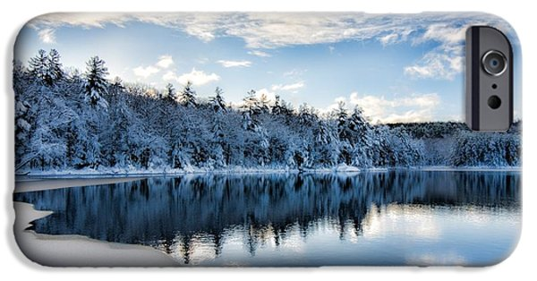 Newengland iPhone Cases - Winters Edge iPhone Case by Mark  Chertok
