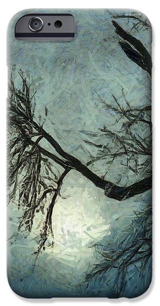 Winter Storm Paintings iPhone Cases - Winters Embrace iPhone Case by Dan Sproul