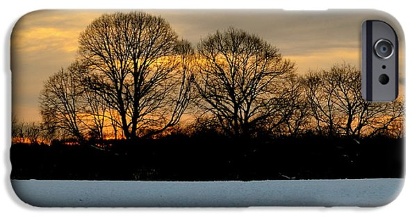 Snowy Day iPhone Cases - Winters Eve iPhone Case by Corinne Rhode