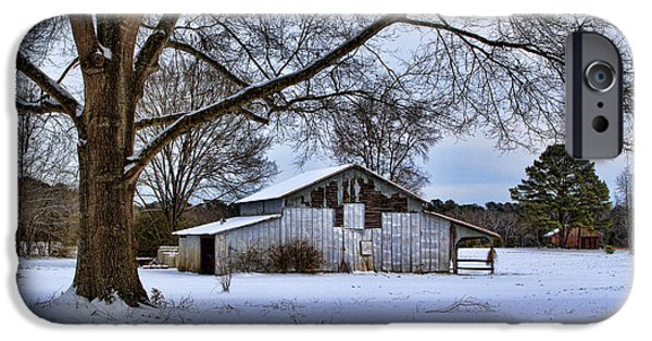Old Barns iPhone Cases - Winters Farm iPhone Case by Greg Mills