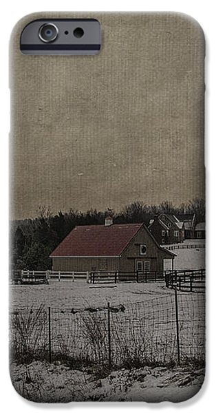 Winter's Farm iPhone Case by Terry Rowe