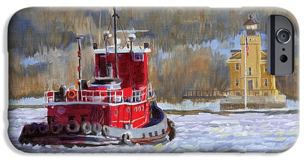 Hudson River iPhone Cases - Winters Ice-olation iPhone Case by Marguerite Chadwick-Juner