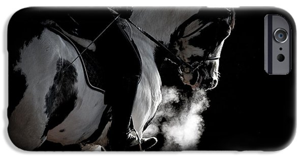 Horse iPhone Cases - Winters Ride D1125 iPhone Case by Wes and Dotty Weber