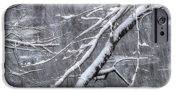 New England Snow Scene iPhone Cases - Winters Song iPhone Case by Joann Vitali