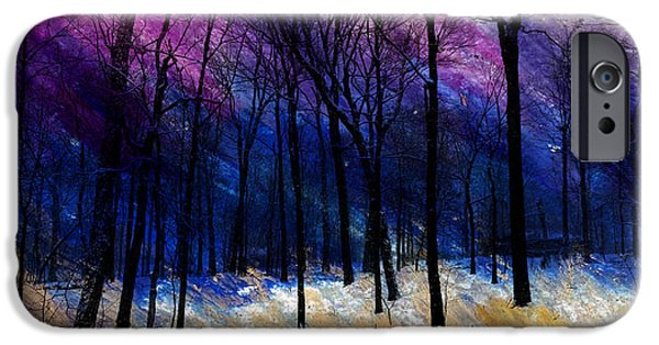 Snowy Night Mixed Media iPhone Cases - Winters Struggle iPhone Case by R Kyllo